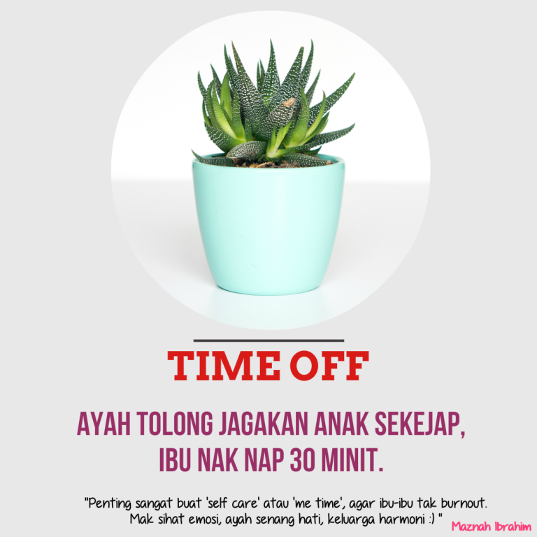 Tips # 43 (Self Care atau Me Time IBU)