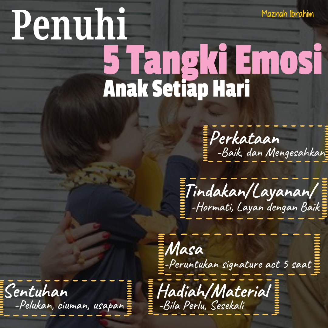 You are currently viewing Macam Mana Nak Penuhi Tangki Emosi Anak (Part 2)